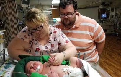 6,7 kiloqramlıq uşaq doğuldu